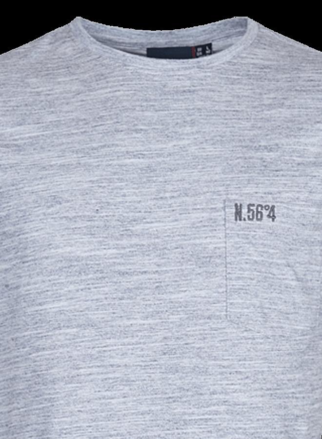 NORTH 56 4 Grå t skjorte | 4XL 8XL | BESTSELGER | XLmann.no